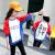 女の子のTシャツの長袖の子供用下着のゆったりとした年齢スタイルの中の大童バットマンの上着の秋の新型の女の子のTシャツの上着の韓国版の1図の色の160(身長の150 cm-160 cmに適します)