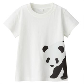 良品計画MUJI赤ちゃんインド綿天竺織プリントTシャツパンダ赤ちゃん90