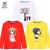 【3点99元】子供服の女の子Tシャツ長袖ボトムス春秋2019新型韓国版の中の子供の純綿服赤ちゃんの上着とカジュアルな3つの服は、猫の白+桜の粉+バブルの紅120 cm(優れた技術は洗濯に耐えて着られます)です。