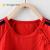 子供泰夏季ベビーTシャツ11-24ヶ月-4歳の赤ちゃんの薄い半袖の上着の赤い80 cm(12-18ヶ月)
