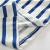 貝殻家族の赤ちゃんのストライプTシャツ夏の服の新しい男の子の子供服の子供の半袖の上着tx 8388青い白の条の100 cm