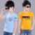 男性用半袖Tシャツ2018新型夏服韓版子供半袖Tシャツの中の子供用少年用純綿の上着黒150