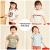 兪兆林YUZHAOLIIN子供服Tシャツ男女子供用半袖上着二つの服の中で大子供用のボトムシャツ2019夏新型短Tセット2-姜黄+白120