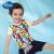 ディィズニは子供服の子供服と子供用プリント半袖Tシャツ2019春夏新型DA 925745 E 11白地にカラフルなアルファベットプリント120を自営しています。
