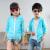 子供用日焼けどめの服は男女用薄いコートの中で、子供用の夏の薄いタイプの通気性皮膚服は日焼け止めの天青110ヤードです(身長100-110 cmをおすすめします)。