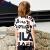 FILAフレディ子供服2019夏新型男の子半袖TシャツLOGOプリント模様純綿丸首子供短T標準白-WT 160 cm