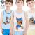 ワンワンの子供用ベストパンツセット純綿の赤ちゃん夏の子供服の子供服のシャツ5分のズボンのPA 391サファイアブルー110 cmが105-155 cmに似合います。