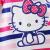 ハローキティ子供服女の子夏服2019新型子供用半袖ボトムの中の子供用の韓国版Tシャツピンクのカラーバー120 cm