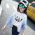 女の子のTシャツの長袖春秋の子供バットマンの韓国版のゆったりしている中で大きい子供のボトムの春の新型の女の子のTシャツの上着の白色の160(身長の150 cm-160 cmに適します)