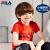 FILAフレディ子供服2019夏新型男小童半袖クラシックカジュアルカジュアル純綿子供Tシャツ