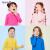 アンネの子供服の女性用下着の長袖と秋冬の男性用のカジュアルな純色Tシャツ保温内のシャツの中の襟のアンナの粉の120 cm