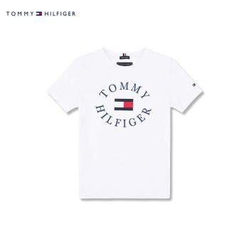 TOMMY HILFIGER大男児2019春半袖Tシャツ-KB 0 KB 0456白123