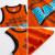 トーマス子供服2019夏新商品子供用タンクトップ純綿ノースリーブ薄手の上着オレンジ色130
