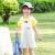 ラインマンの子供服の女の子の半袖のTシャツ2019夏の新型の甘くて甘いリボンの短いスタイルのカジュアルな服の白色の130 cm