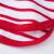 ビビー子供Tシャツ男女赤ちゃん海军ストライプ长袖纯绵上衣红白90 cm