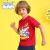 Balenoベネロード2020年春夏新型スーパー侠客同款印紙子供半袖Tシャツアニメ赤い半袖男児トップス10 Y艶オレンジ130 cm(130 CM)
