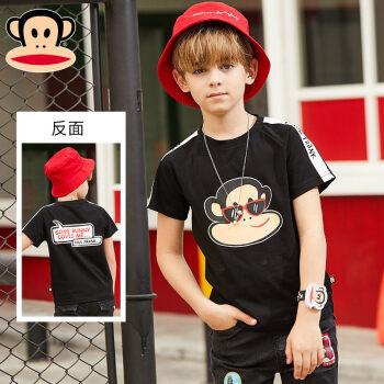 大きい口のサルの子供服の子供の男の子の半袖のTシャツの湿った子供の中で大きい子供の2020新型の夏の子供服の黒い150 cm(150/72)