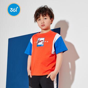 361°361度男性の中で大童アニメは半袖Tシャツ2020新型丸首子供半袖ニットZYN 52021207トマト赤170をつぎます。