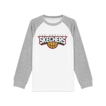 スウィッチSkechers男性童打色插肩ファッションスポーツウェアL 320 B 078亮白0019 XL 140
