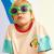 七匹狼男児半袖Tシャツ大童丸首ゆったりトップス2020年夏新型潮流子供洋風ファッションDSJD 1616 A 360637カーキ160 cm