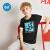 男女361度の中大童半袖Tシャツ2020夏の定番LOGO丸首子供用半袖ニットZYN 520212クラシック黒150