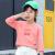 寒い日に着る子供用の秋尚新子供服の女性用長袖Tシャツ2020歳の子供用純綿洋風の女の子用の下着の中の大きい子供用秋の服の上のイチゴの粉110 cm